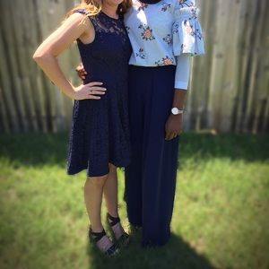 Navy Dillard's dress